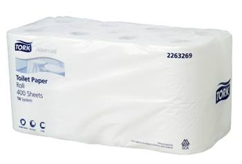 Tork Advanced Conventional Toilet Roll 2ply T4 16 packs