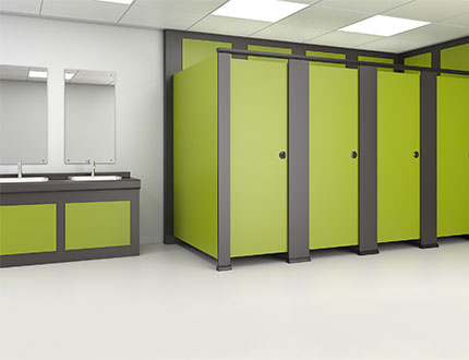 green and black combo colour cubicle