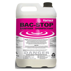 Kemsol Bac-Stop Sanitiser Disinfectant Concentrate 5L