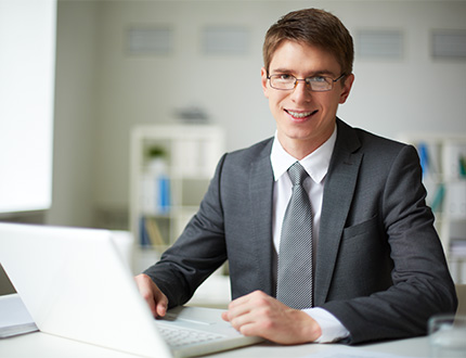 smiling male employee
