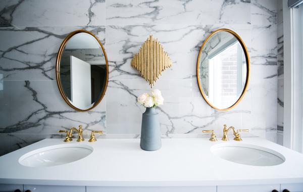 clean white ceramic sink
