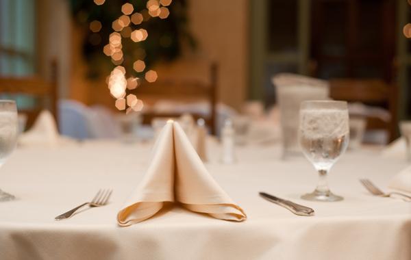 clean white table napkin