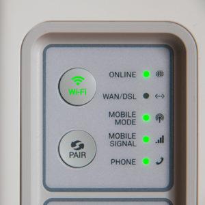 white modem outer
