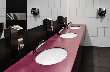 stylish coloured washroom sink