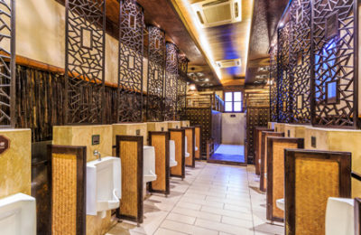 luxurious public restroom