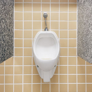 Wall mounted flushing urinals