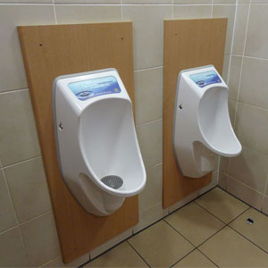 Waterless urinals for men