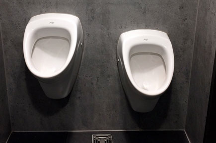 Tidy waterless urinals