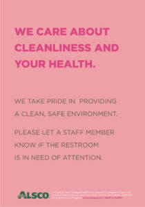 Cleanliness health pink poster