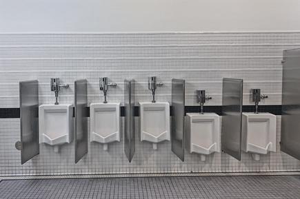 clean public urinal