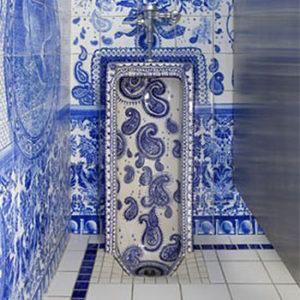 Unique artwork urinal