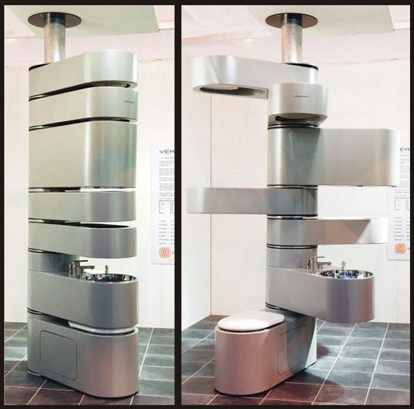 Washroom in a vertebrae design