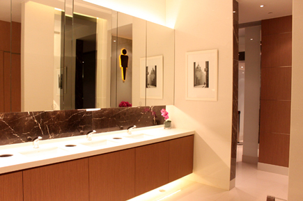 luxurious clean washroom