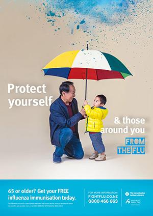 free influenza immunisation poster
