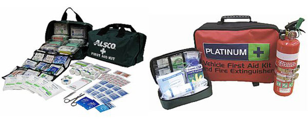 Vehicle portable first aid kit