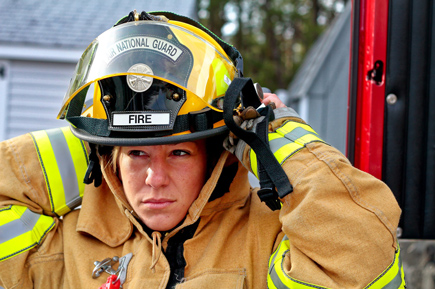 woman fire fighter