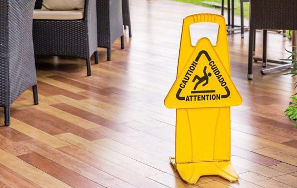 yellow wet floor signage