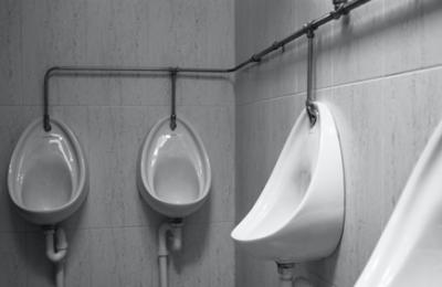 clean male urinals